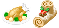Desktop Icons Set Christmas Dinner by Saho