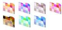 Desktop Icons Set Mosaic Folders by Saho