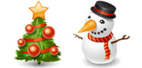 Desktop Icons Set Winter Holidays by IconDrawer.com