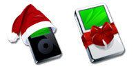 Desktop Icons Set iPod Christmas by FastIcon.com