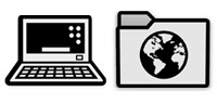 Desktop Icons Set Pictograms by Icon Icon