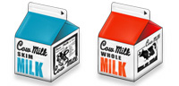 Desktop Icons Set Cow Milk by WaxYourMac