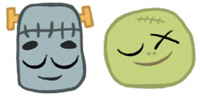 Desktop Icons Set Don't Wake Up The Monsters! by Suanko