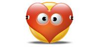 Desktop Icons Set Valentine Smiley by Tab