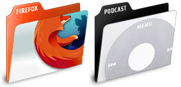 Desktop Icons Set Application Folders by Orhan Okay