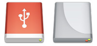 Desktop Icons Set External Drives by Louie Mantia