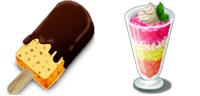 Desktop Icons Set Cold Desserts by homare