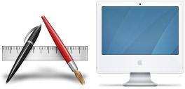 Desktop Icons Set Aqua Neue (Graphite) by Louie Mantia