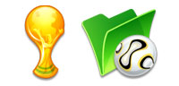 Desktop Icons Set Comic World Cup by FastIcon.com