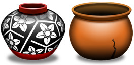 Desktop Icons Set Clay Pots by Icon Icon