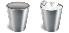 Desktop Icons Set Metal Trash by Seifer