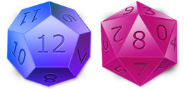 Desktop Icons Set D&D Dice by iconcubic.com