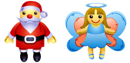 Desktop Icons Set Christmas Dolls by zeusbox