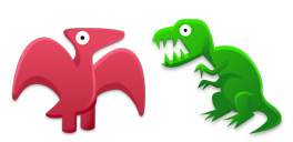 Desktop Icons Set Dinosaur Toy by FastIcon.com