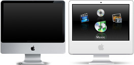 Desktop Icons Set iMac Front Row by Maxite