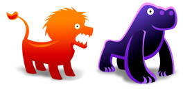 Desktop Icons Set Animal Toys by FastIcon.com