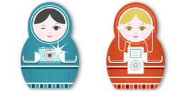 Desktop Icons Set Matryoshka by studiobenben
