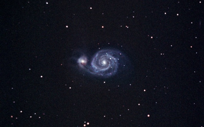 High-resolution desktop wallpaper The Whirlpool Galaxy by chickenwire