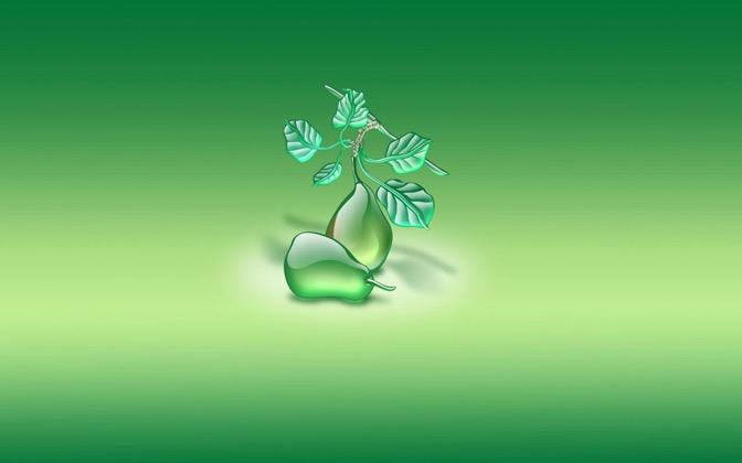 High-resolution desktop wallpaper Aqua Pears by Jairo Boudewyn
