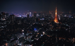 High-resolution desktop wallpaper Tokyo at Night by Steven Miller