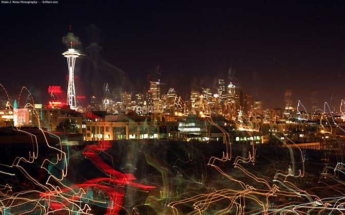 High-resolution desktop wallpaper Seattle Gleam by Blake J. Nolan