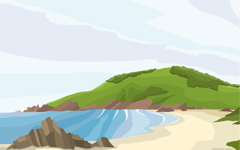 High-resolution desktop wallpaper Praia De Baleo by Daniel Goffin