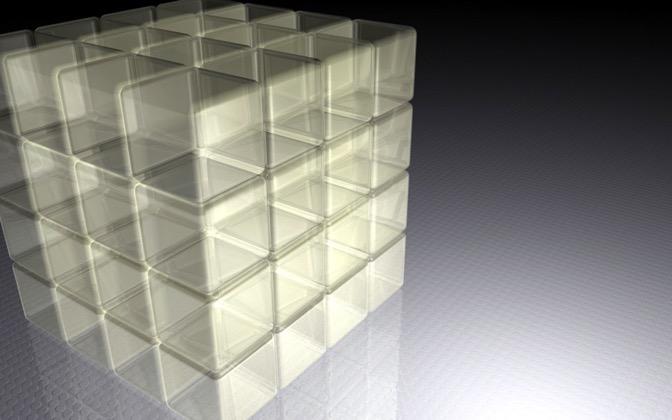 High-resolution desktop wallpaper Cubes by sebman