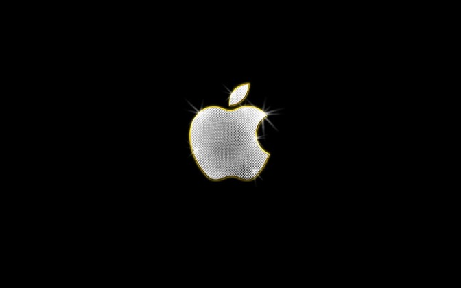High-resolution desktop wallpaper Bling-Bling Apple by Michael B. Stuart