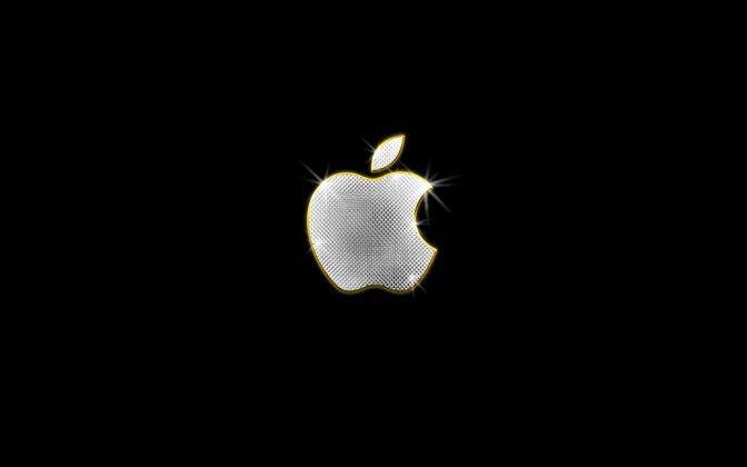 High-resolution desktop wallpaper Bling-Bling Apple by Michael B. Stuart