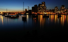 High-resolution desktop wallpaper Vancouver At Night by G23