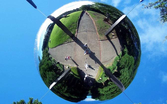 High-resolution desktop wallpaper Mirror Ball by Kushdaiin