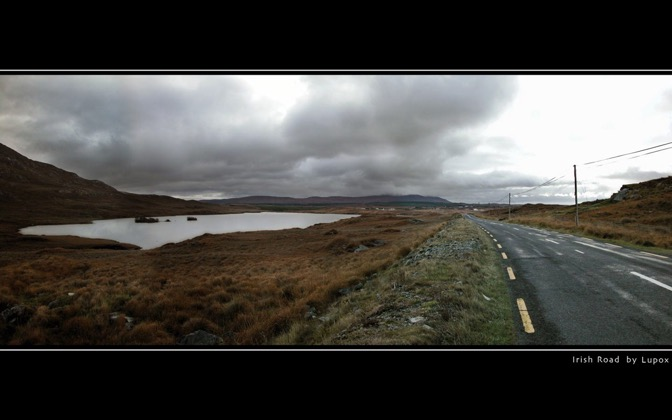 High-resolution desktop wallpaper Irish Road by Lupox