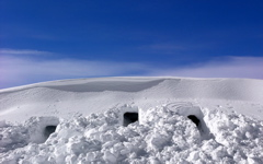 High-resolution desktop wallpaper Snow Caves by Pond