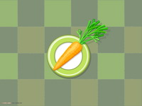 High-resolution desktop wallpaper Carrot by Julia Nikolaeva