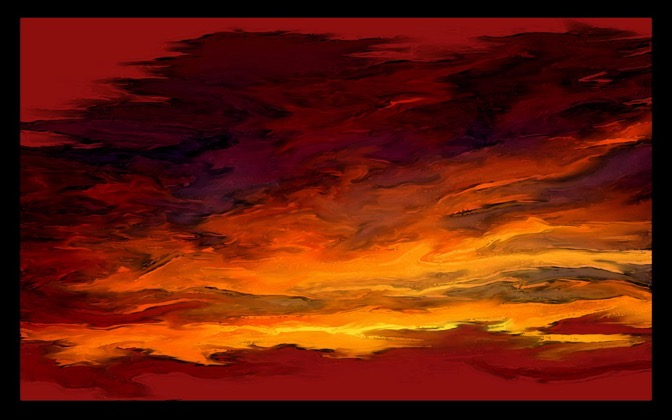 High-resolution desktop wallpaper Abstract Sunset by Nevik