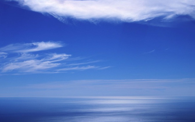 High-resolution desktop wallpaper Blue Sea Horizon by graham.fleming@gmail.com