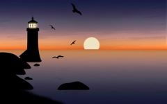 High-resolution desktop wallpaper Warm Glow Lighthouse by strawberried