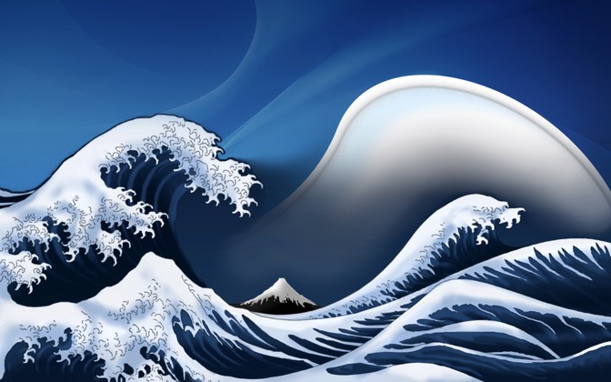 High-resolution desktop wallpaper OS X Wave by soggyb