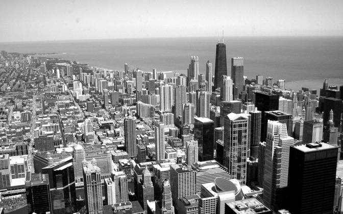 High-resolution desktop wallpaper View from Sears Tower by npapajohn