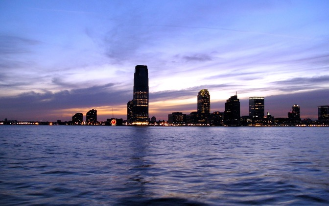 High-resolution desktop wallpaper Jersey City skyline by L J Holland