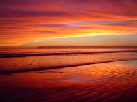 High-resolution desktop wallpaper Fire Sunset by Pam Jones