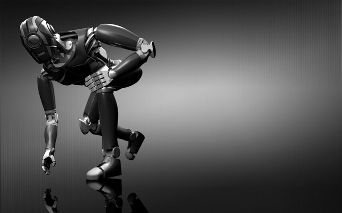 High-resolution desktop wallpaper Robot M1 by Christopher Watson