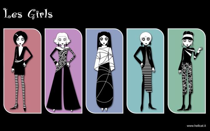 High-resolution desktop wallpaper Les Girls by hellcat