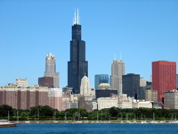 High-resolution desktop wallpaper Chicago's Sears Tower by Jonathan Weinraub