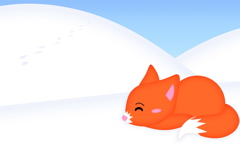 High-resolution desktop wallpaper Snow Fox by strawberried