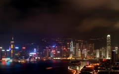 High-resolution desktop wallpaper Hong Kong Night by Alezone