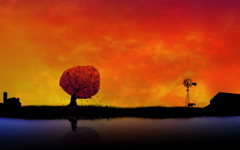 High-resolution desktop wallpaper Autumn Reflections - Farm by soggyb