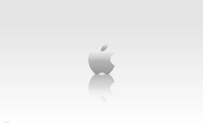 High-resolution desktop wallpaper Apple Logo by saurospagnol