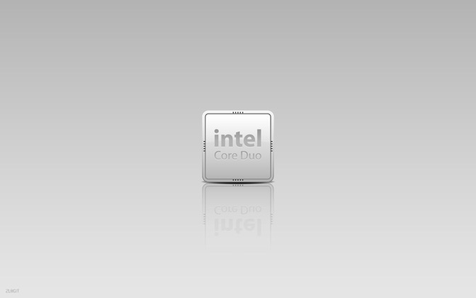 High-resolution desktop wallpaper Intel Chip by saurospagnol