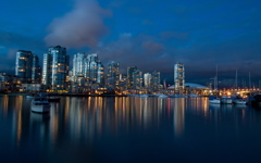 High-resolution desktop wallpaper Vancouver Dusk by graham.fleming@gmail.com